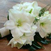 bouquet sposa a fascio di amarillis