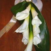 bouquet sposa a fascio di calle