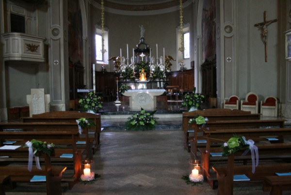 Allestimento Chiesa Ortensie : Allestimento chiese per matrimoni tagliabue il verde