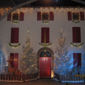 allestimento natalizio esterno