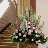 allestimento floreale del  Castello a Ferrara