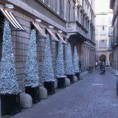 allestimento natalizio negozio Milano