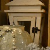 Addobbi natalizi per la casa - lanterna bianca