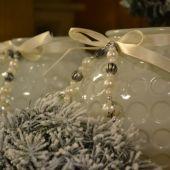 Addobbi natalizi per la casa - porta candele bianchi