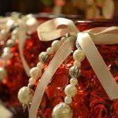 Addobbi natalizi per la casa - porta candele rossi