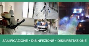 Intervento di Sanificazione e disinfezione