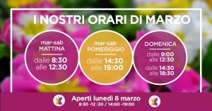 orari di apertura di marzo